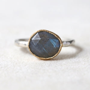 Small Labradorite Ring