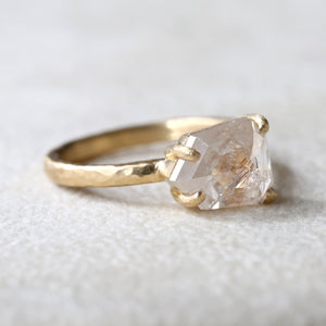 3.06ct pale peach diamond ring