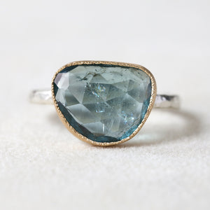 4.18ct Pale BlueTourmaline Ring