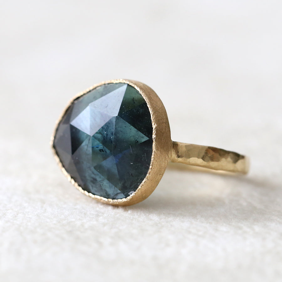 6.55ct Blue Tourmaline Ring