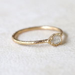 0.18ct bright grey diamond ring