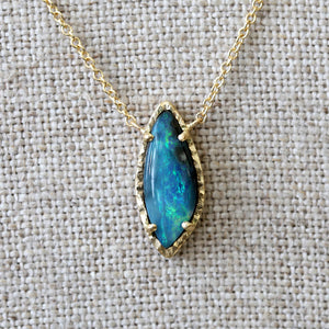 Australian boulder opal necklace
