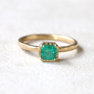 0.59ct Colombian Emerald Ring