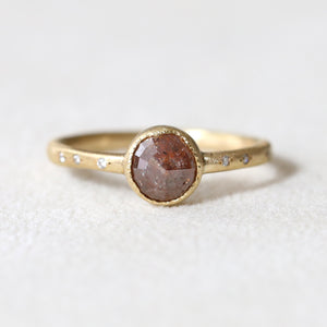 1.40ct brown diamond ring