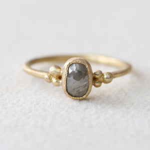 0.80ct Grey diamond ring