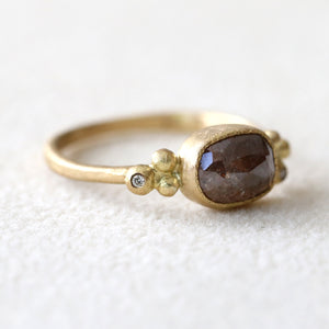 1.55ct brown diamond ring