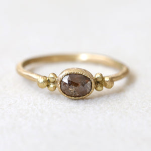 0.57ct brown diamond ring