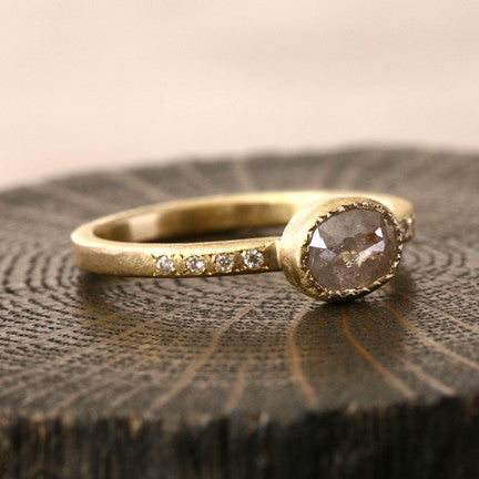 1.44ct brown diamond ring