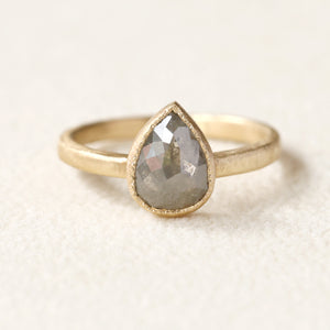 1.52ct grey diamond ring
