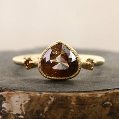 1.64ct red brown diamond ring