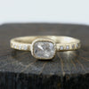 0.57ct  Icy grey diamond ring