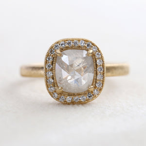 1.53ct Icy grey diamond ring