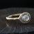 0.58ct  Icy grey diamond ring