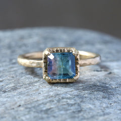 1.08ct bi-color Tourmaline Ring