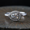 0.66ct  Iight grey- brown diamond ring