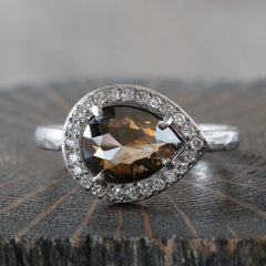 1.70ct natural brown diamond ring