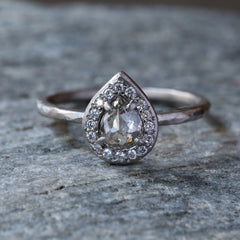 0.46ct Grey diamond ring