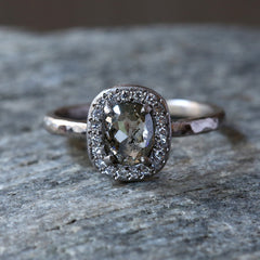 0.69ct salt & pepper diamond ring