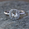 0.68ct Icy Grey diamond ring