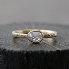 0.56ct icy grey diamond ring