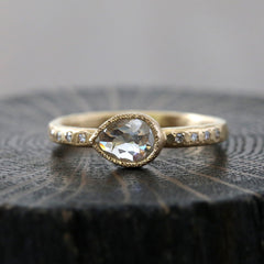 0.66ct icy grey diamond ring