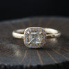 0.37ct  Icy grey diamond ring