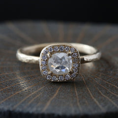 0.54ct  Icy grey diamond ring