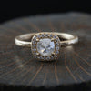 0.67ct  Icy grey diamond ring