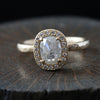 0.97ct  Icy grey diamond ring