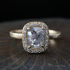 1.04ct  Icy grey diamond ring