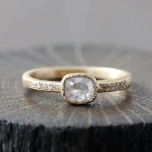 0.46ct icy grey diamond ring