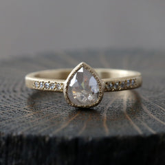 0.83ct icy grey diamond ring