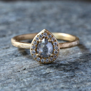 0.47ct icy grey diamond ring