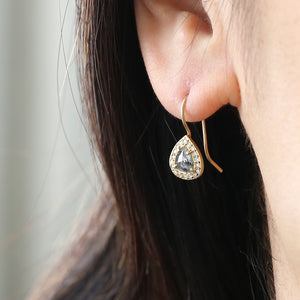 Salt & Pepper diamond earrings