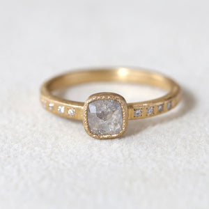 0.57ct grey diamond ring
