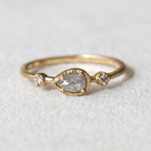 0.29ct natural grey diamond Muguet Ring