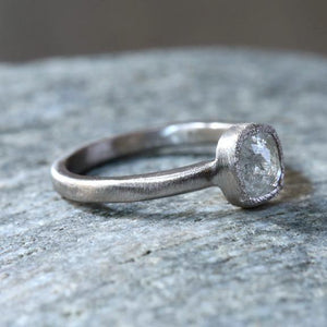 0.82 Icy grey diamond ring