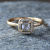 0.38ct icy grey diamond ring