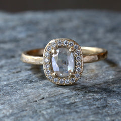 0.53ct icy grey diamond ring