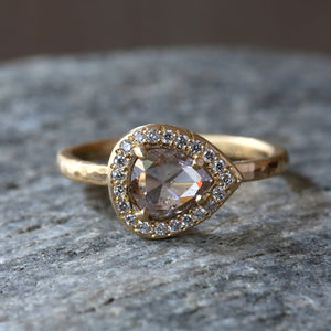 0.71ct light brown diamond ring