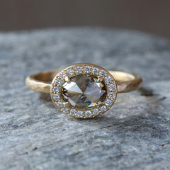 1.07ct champagne diamond ring
