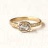 0.91ct Icy grey diamond ring