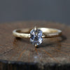 0.84ct grey diamond ring