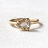 0.84ct light champagne diamond ring