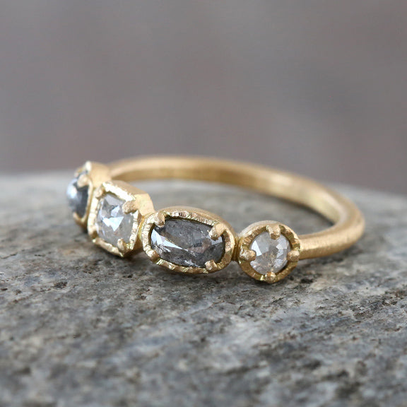 0.90ct Quad bezel diamond ring