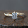 1.00ct Icy grey diamond ring