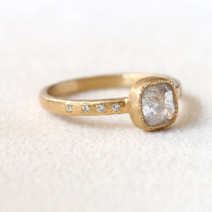 1.10ct grey diamond ring
