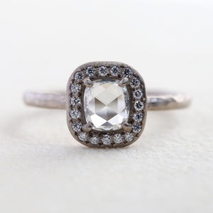 0.43ct rose cut diamond ring