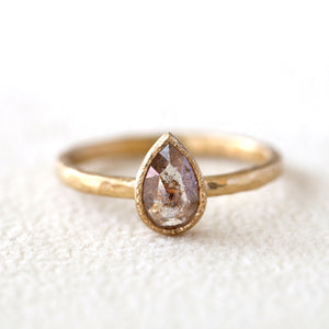 0.56ct Peachy diamond ring