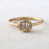 0.65ct champagne diamond ring